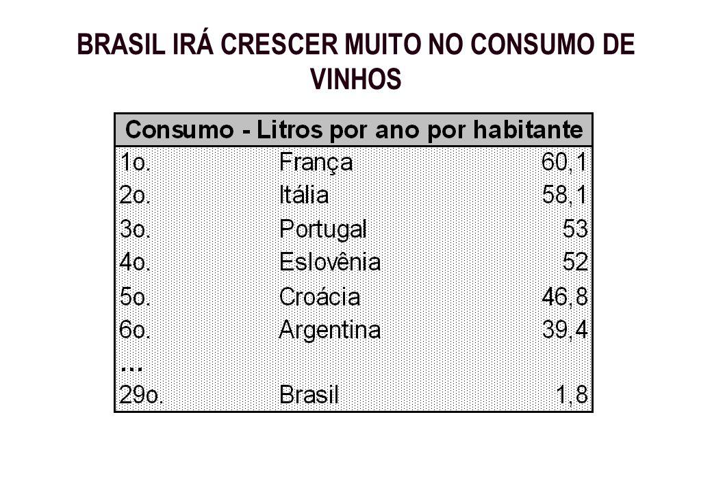 BRASIL IRÁ CRESCER MUITO NO CONSUMO DE VINHOS