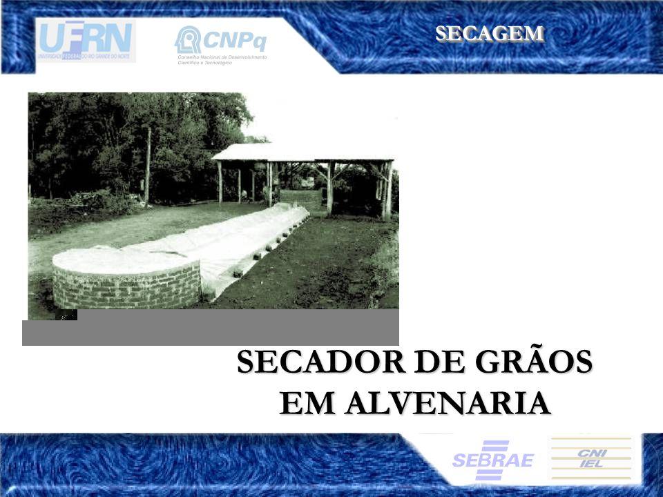 SECADOR DE GRÃOS EM ALVENARIA SECAGEMSECAGEM