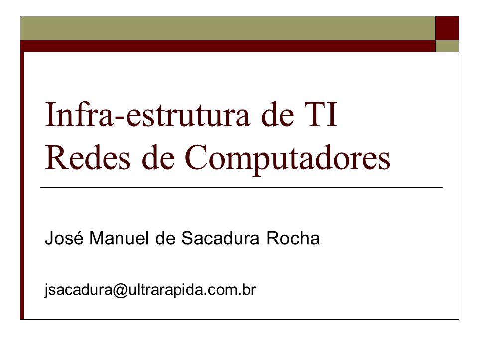 Infra-estrutura de TI Redes de Computadores José Manuel de Sacadura Rocha jsacadura@ultrarapida.com.br