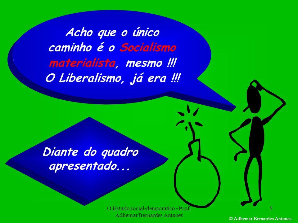 O Estado social-democrático - Prof.