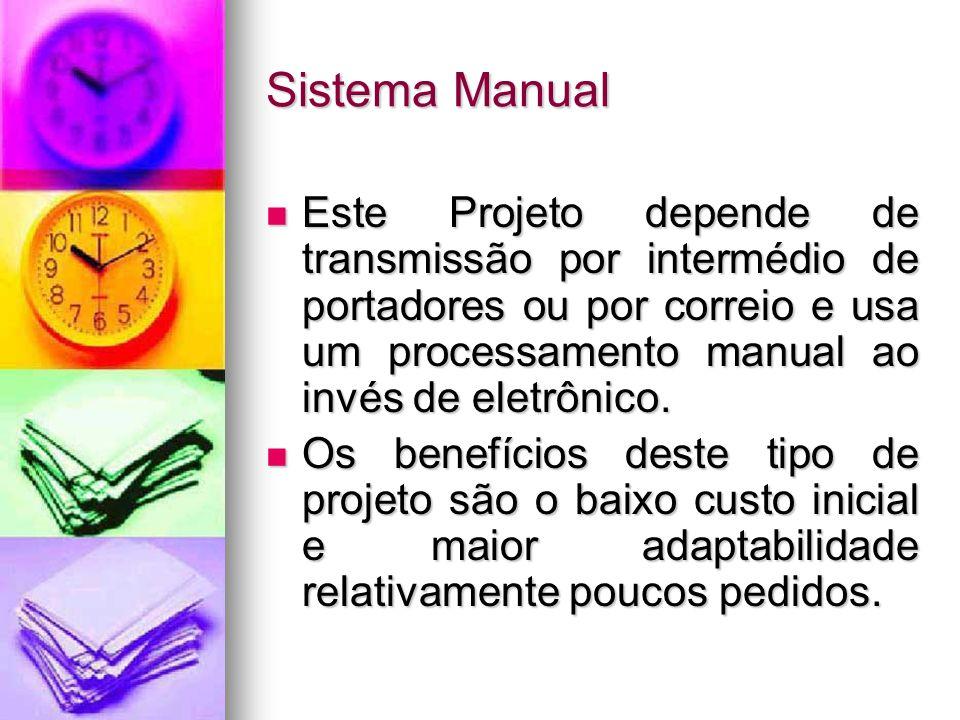Alternativas para Projeto O processamento de pedidos pode ser feito de infinitas maneiras. O processamento de pedidos pode ser feito de infinitas mane