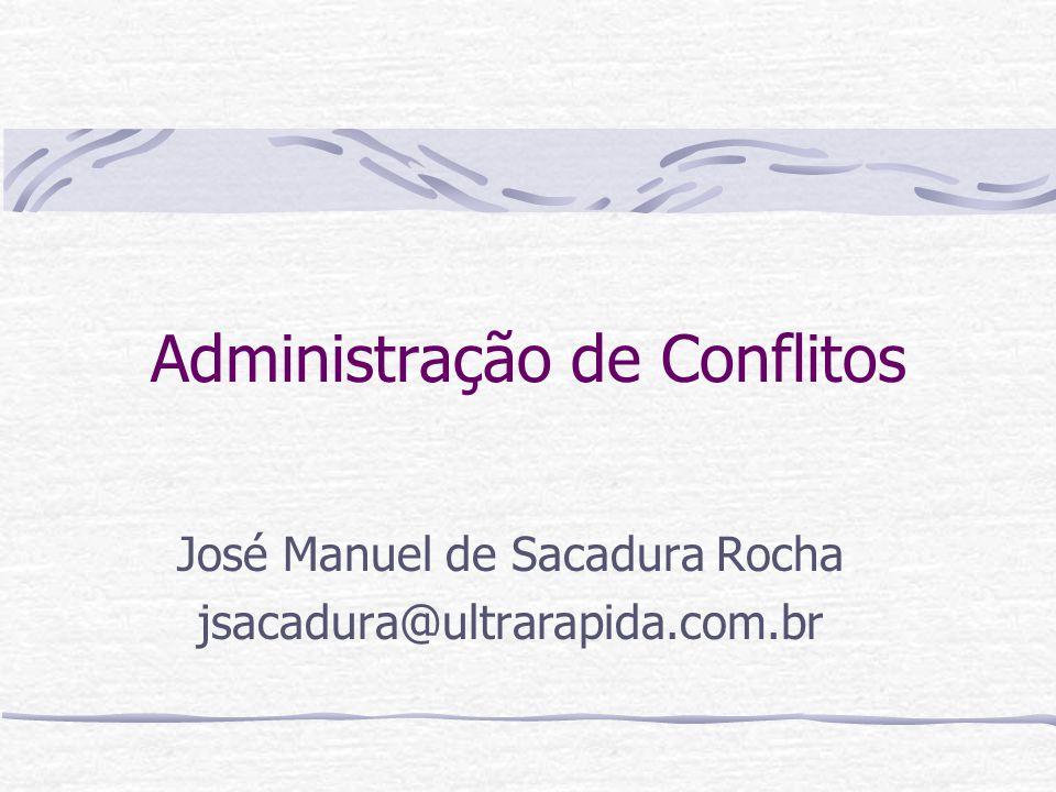 Administração de Conflitos José Manuel de Sacadura Rocha jsacadura@ultrarapida.com.br