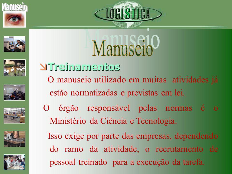 Treinamentos Treinamentos O manuseio utilizado em muitas atividades já estão normatizadas e previstas em lei.