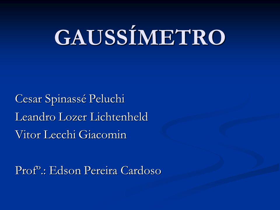 GAUSSÍMETRO Cesar Spinassé Peluchi Leandro Lozer Lichtenheld Vitor Lecchi Giacomin Profº.: Edson Pereira Cardoso