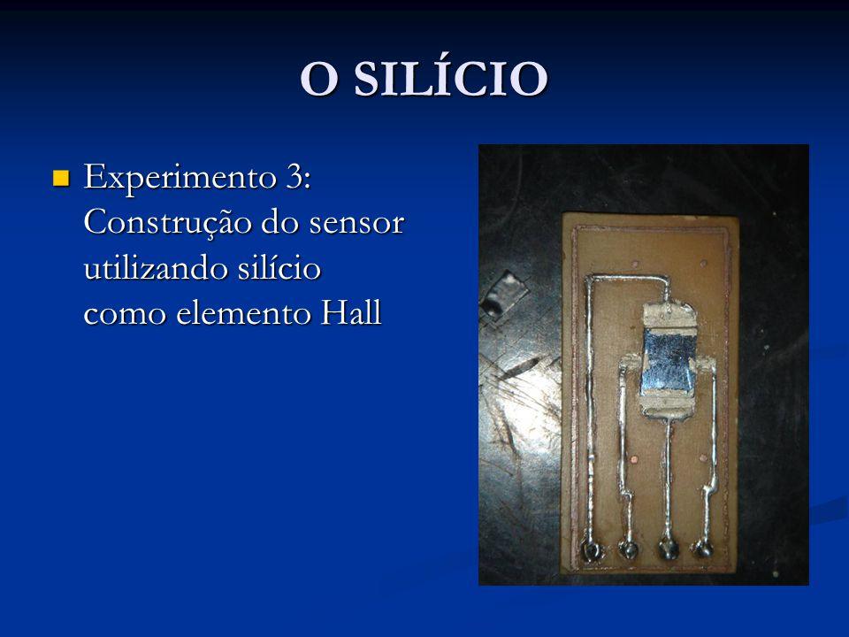 O SILÍCIO Experimento 3: Construção do sensor utilizando silício como elemento Hall Experimento 3: Construção do sensor utilizando silício como elemen