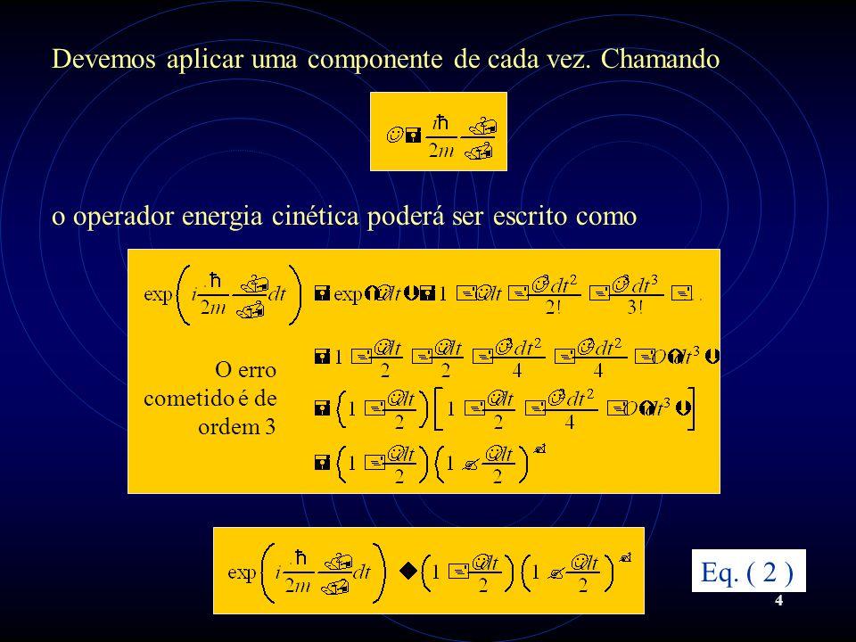 5 Substituindo a Equação (2) na Equação (1) Eq. ( 3 ) Vamos reescrever a equação acima chamando