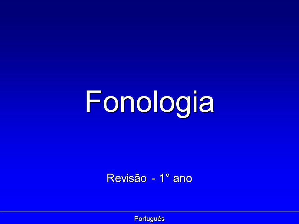 Fonologia Revisão - 1° ano Português