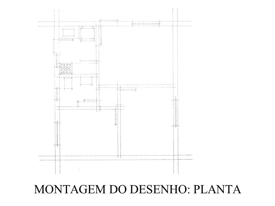 MONTAGEM DO DESENHO: PLANTA