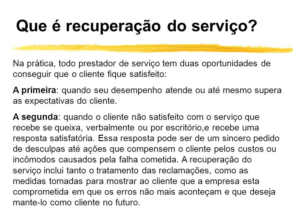 Na prática, todo prestador de serviço tem duas oportunidades de conseguir que o cliente fique satisfeito: A primeira: quando seu desempenho atende ou