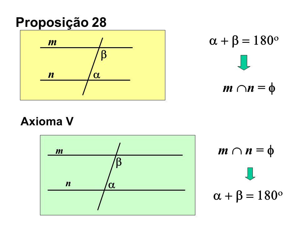 Axioma V m n m n = Proposição 28 m n m n =