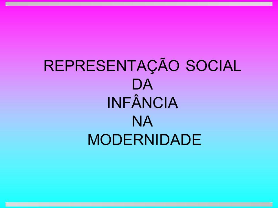 REPRESENTAÇÃO SOCIAL DA INFÂNCIA NA MODERNIDADE