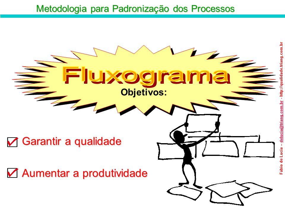 Metodologia para Padronização dos Processos Fábio de Lucia – delucia@triang.com.br - http://qualidade.triang.com.brdelucia@triang.com.br Objetivos: Ob