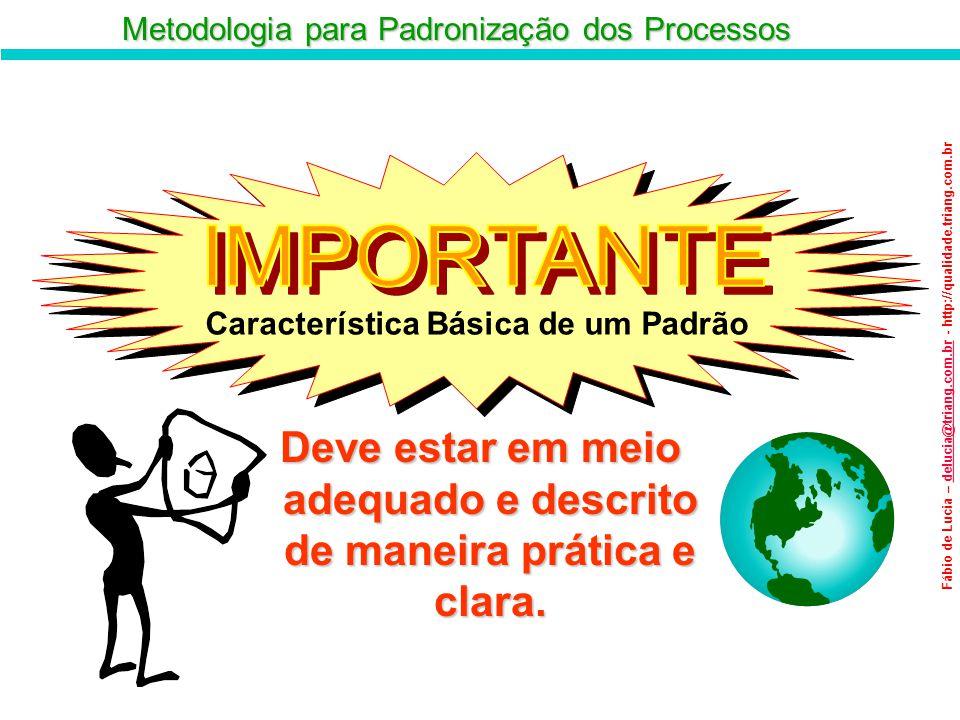 Metodologia para Padronização dos Processos Fábio de Lucia – delucia@triang.com.br - http://qualidade.triang.com.brdelucia@triang.com.br Característic