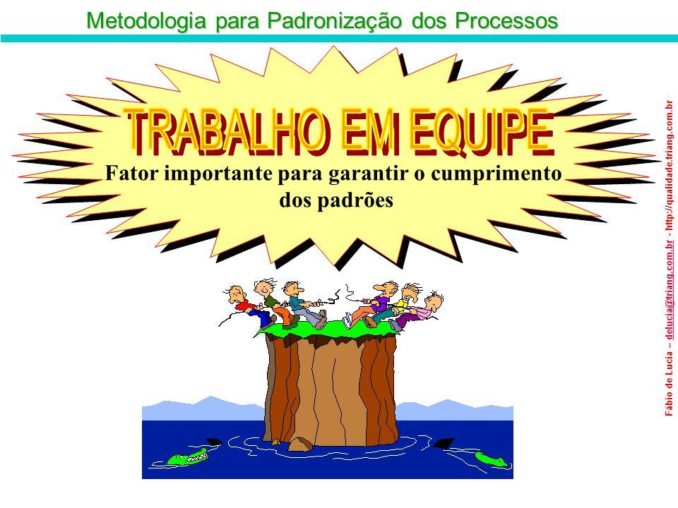 Metodologia para Padronização dos Processos Fábio de Lucia – delucia@triang.com.br - http://qualidade.triang.com.brdelucia@triang.com.br Fator importa