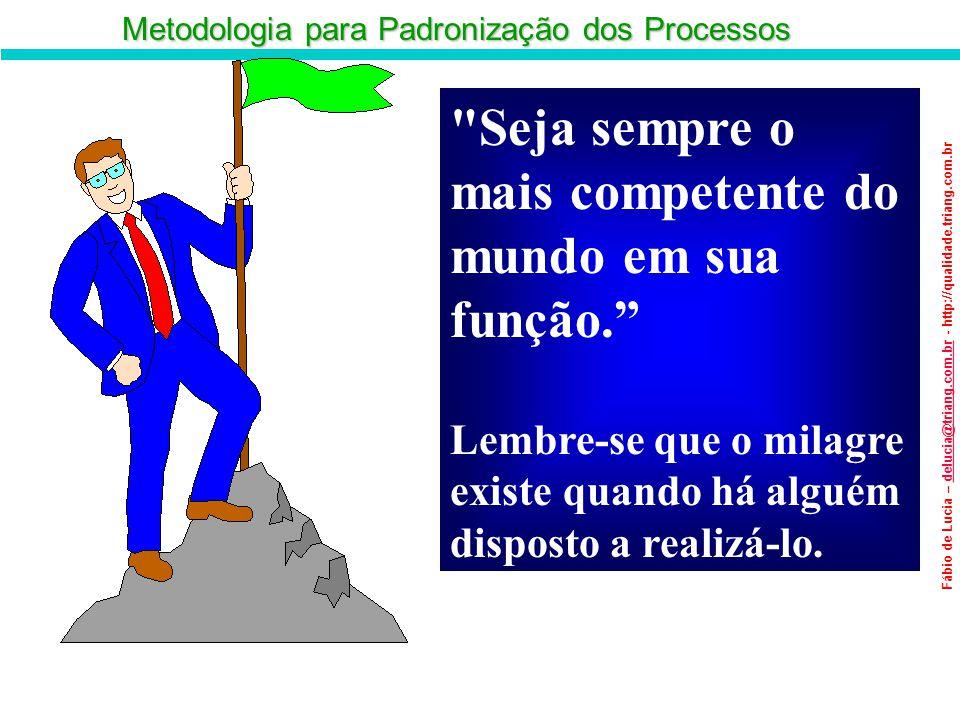 Metodologia para Padronização dos Processos Fábio de Lucia – delucia@triang.com.br - http://qualidade.triang.com.brdelucia@triang.com.br