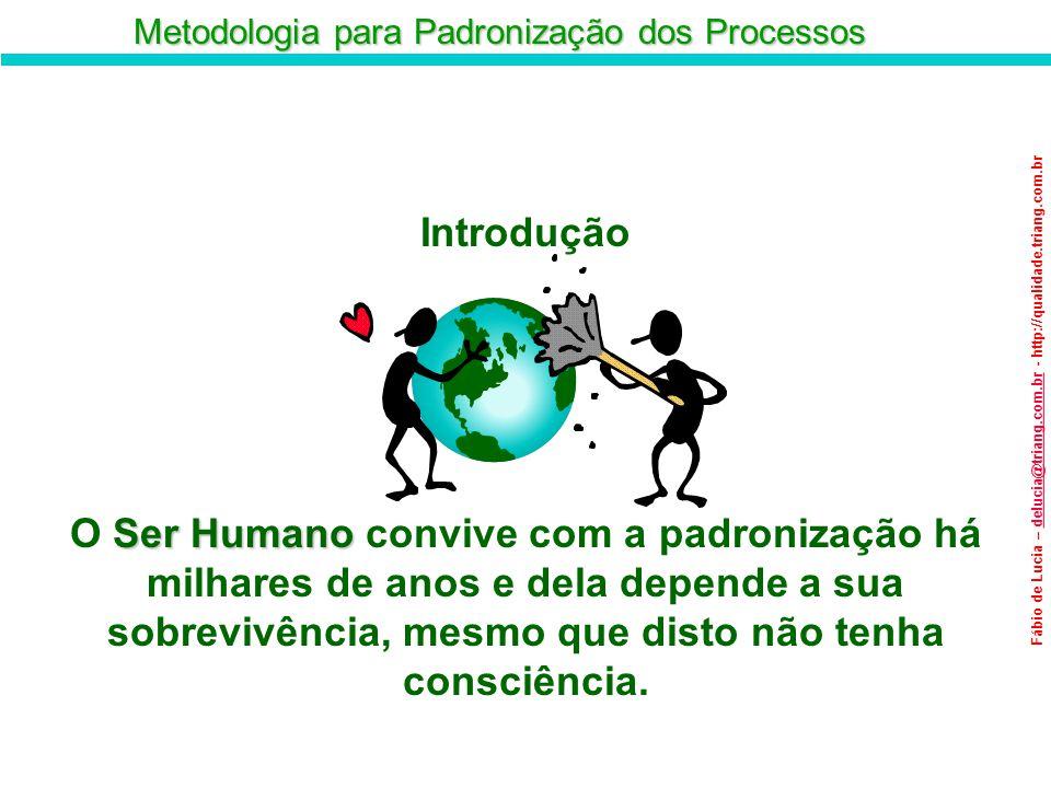 Metodologia para Padronização dos Processos Fábio de Lucia – delucia@triang.com.br - http://qualidade.triang.com.brdelucia@triang.com.br Objetivos: Objetivos: Garantir a qualidade Aumentar a produtividade