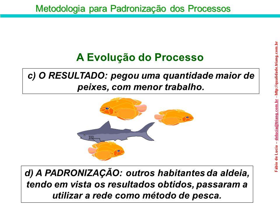 Metodologia para Padronização dos Processos Fábio de Lucia – delucia@triang.com.br - http://qualidade.triang.com.brdelucia@triang.com.br A Evolução do