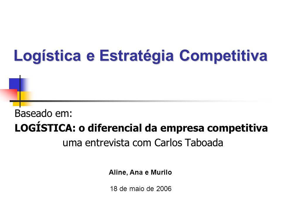 Logística e Estratégia Competitiva Baseado em: LOGÍSTICA: o diferencial da empresa competitiva uma entrevista com Carlos Taboada Aline, Ana e Murilo 18 de maio de 2006