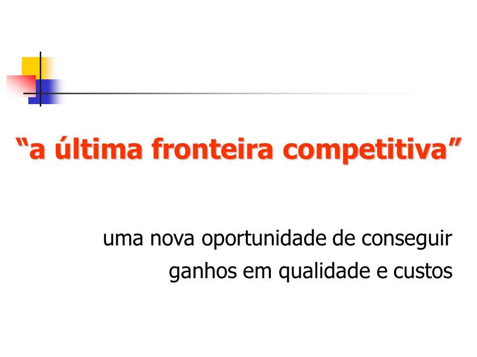 a última fronteira competitiva uma nova oportunidade de conseguir ganhos em qualidade e custos