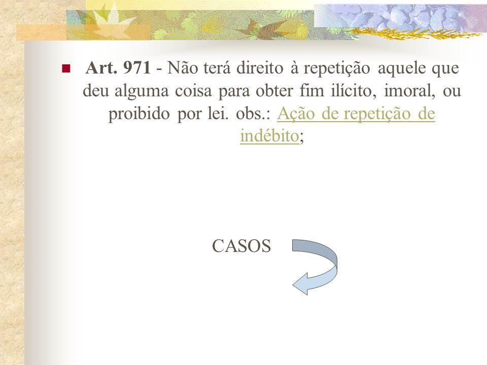 Art. 970 - Não se pode repetir o que se pagou para solver dívida prescrita, ou cumprir obrigação natural. obs.: Obrigação natural; prescriçãoObrigação