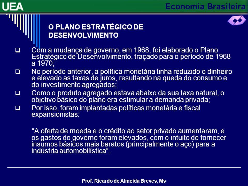 Economia Brasileira Prof. Ricardo de Almeida Breves, Ms CONTINUAÇÃO A maior disponibilidade de divisas, resultante da expansão das exportações, também