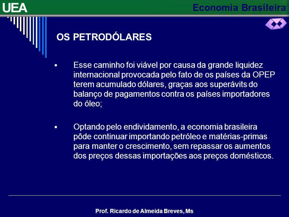 Economia Brasileira Prof.Ricardo de Almeida Breves, Ms EXERCÍCIOS 9.