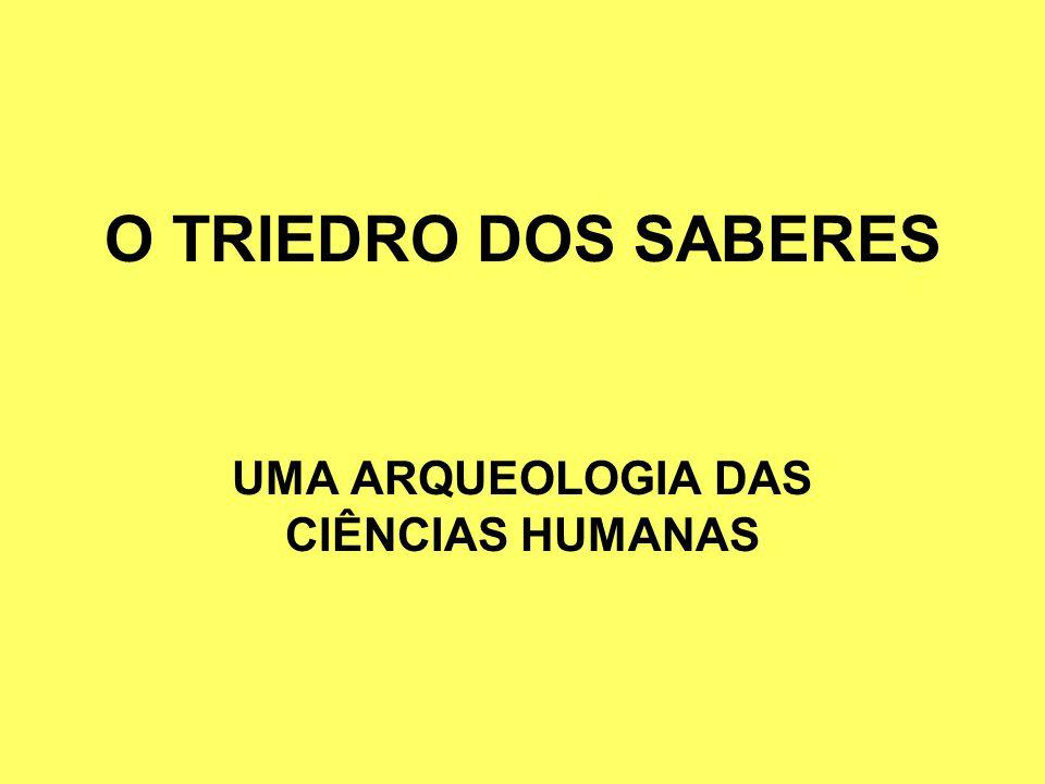 O TRIEDRO DOS SABERES UMA ARQUEOLOGIA DAS CIÊNCIAS HUMANAS