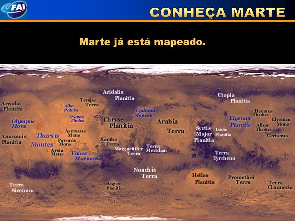 Marte já está mapeado.