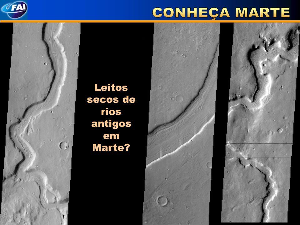Leitos secos de rios antigos em Marte?