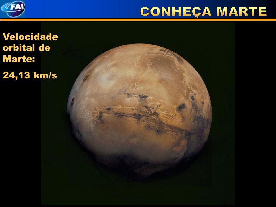 Velocidade orbital de Marte: 24,13 km/s