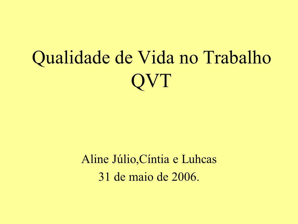 A importância da QVT reside no fato de que passamos no ambiente de trabalho mais de 8 horas por dia, durante pelo menos 35 anos de nossas vidas.