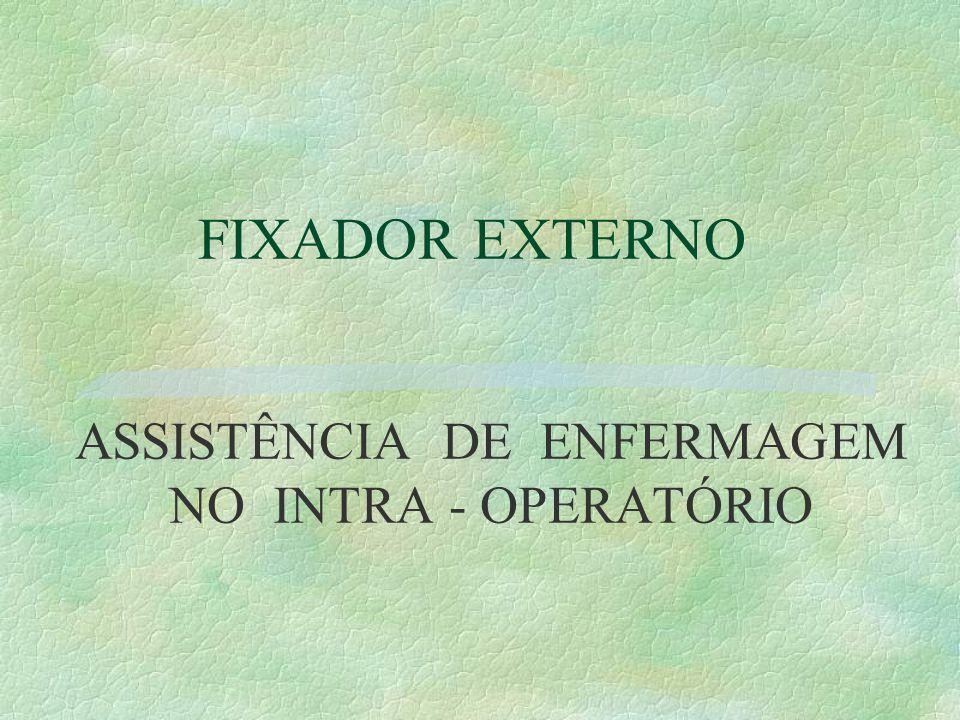 FIXADOR EXTERNO ASSISTÊNCIA DE ENFERMAGEM NO INTRA - OPERATÓRIO