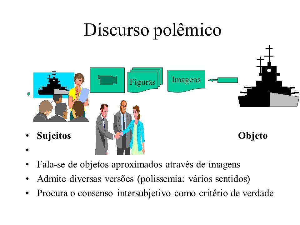 Verbalismo: Discurso autoritário Fala-se de objetos distantes (referentes distantes) Uma única versão (Paráfrase: sentido único) Discurso vertical e d