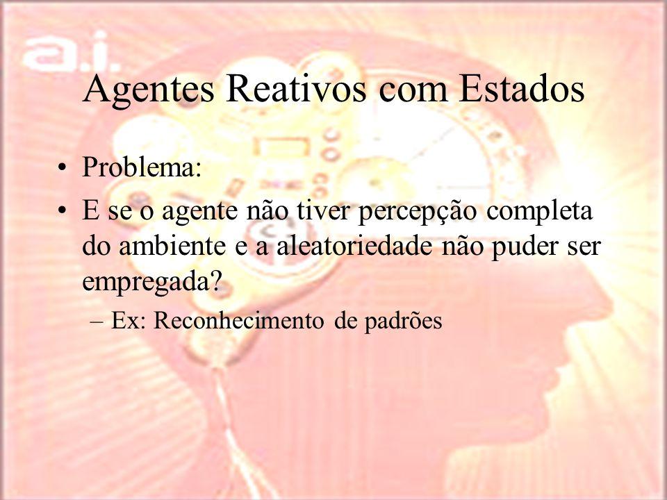 Agentes Reativos com Estados Problema: E se o agente não tiver percepção completa do ambiente e a aleatoriedade não puder ser empregada.