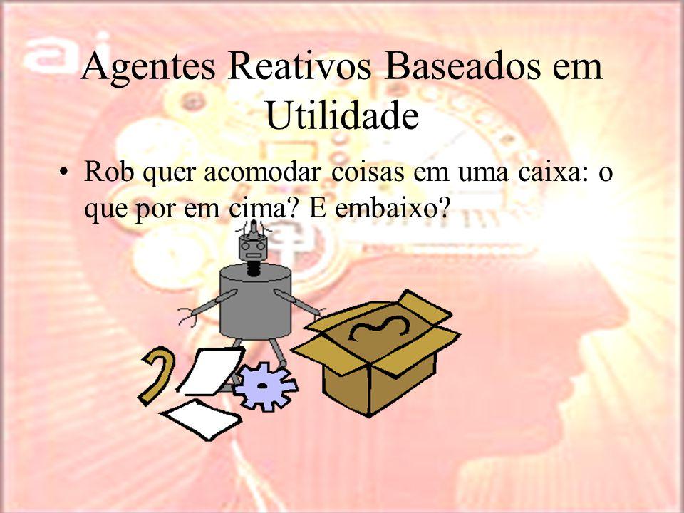 Agentes Reativos Baseados em Utilidade Rob quer acomodar coisas em uma caixa: o que por em cima.