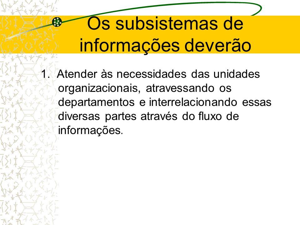 Nesse relacionamento entre o sistema de informações gerenciais e a estrutura organizacional, dois itens devem ser abordados.