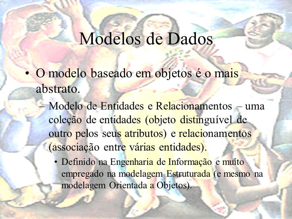 Modelos de Dados O modelo baseado em objetos é o mais abstrato.
