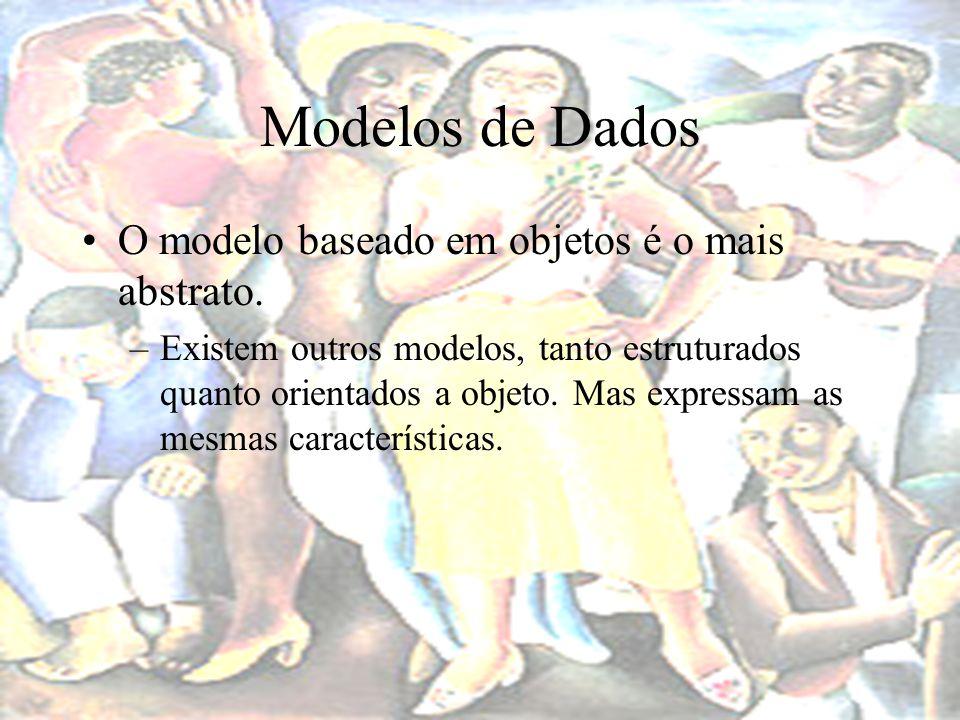 Modelos de Dados Modelo baseado em registros –Construído a partir do modelo de objetos.
