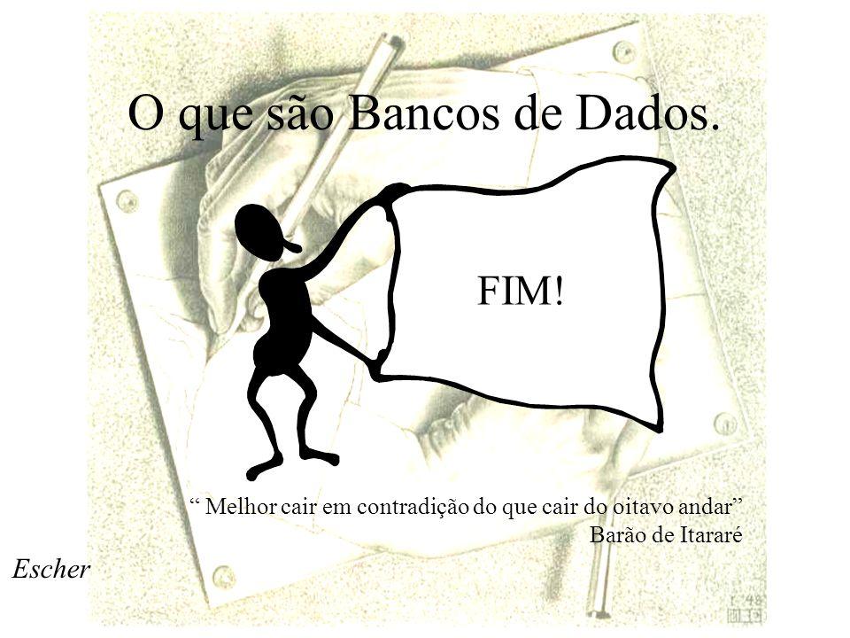 O que são Bancos de Dados.FIM.