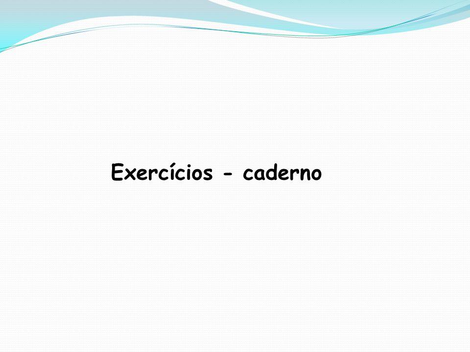 Exercícios - caderno