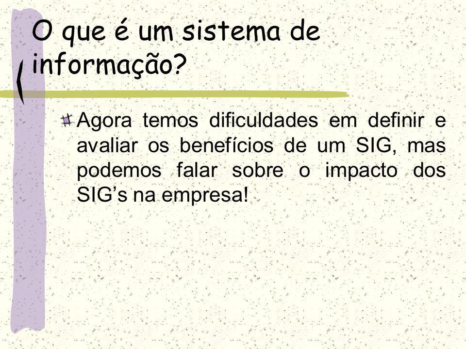 O que é um sistema de informação? O que é SIG? Para que serve? Onde eu posso chegar sabendo SIG? Por onde começar?