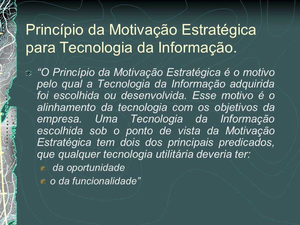 Princípio da motivação estratégica Princípio da Motivação Estratégica para Tecnologia da Informação.