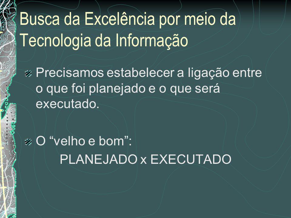 Busca da Excelência por meio da Tecnologia da Informação Só há uma forma de não termos problemas como os relatados anteriormente.