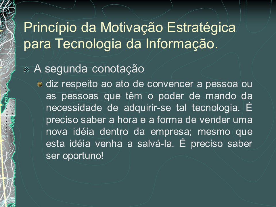 Princípio da Motivação Estratégica para Tecnologia da Informação.