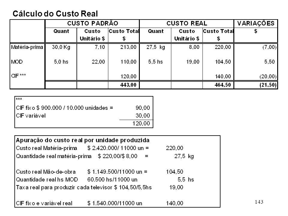 143 Cálculo do Custo Real