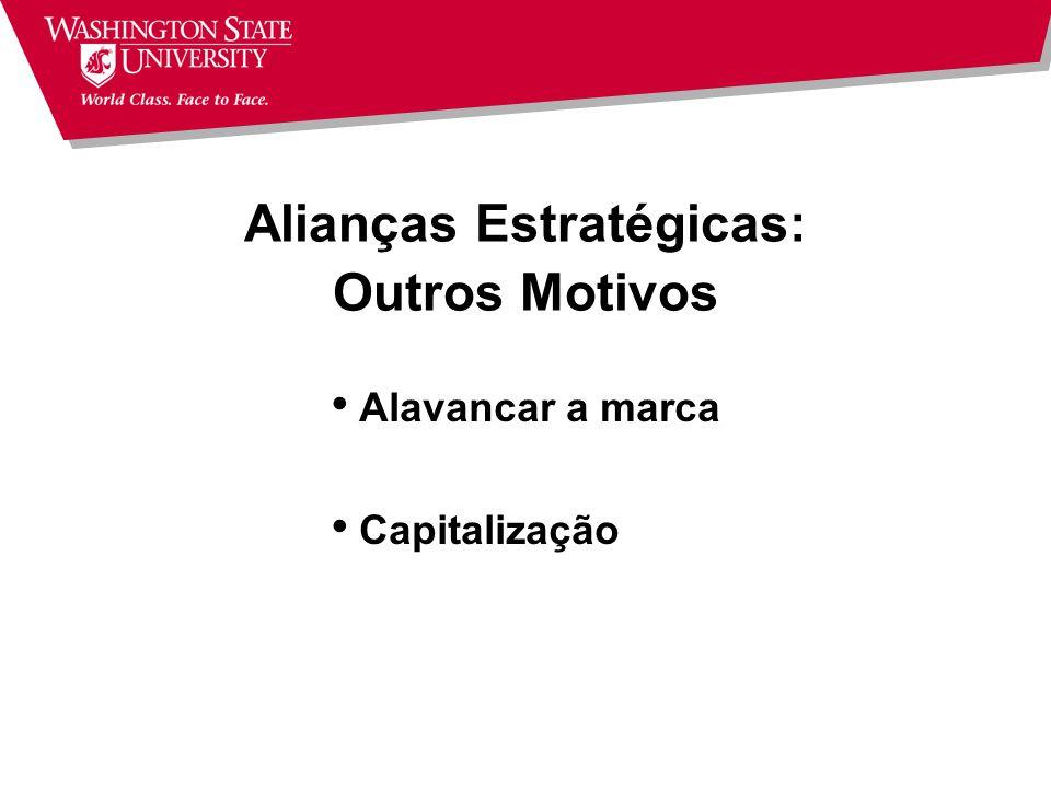 Exemplo: DFA Joint Ventures: 35% do volume captado Posição acionária minoritária Participação nos resultados e controle Administração por profissionai