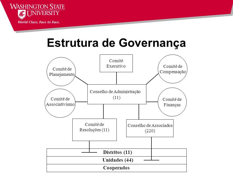Tendências Redução no tamanho do Conselho Diretores profissionais Clara demarcação de responsabilidades Representação Conselho Executivo vs.
