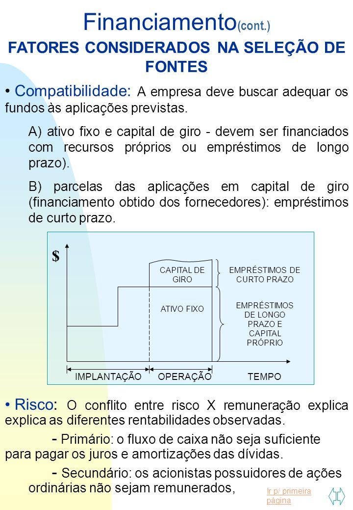 Ir p/ primeira página AULA 27 Financiamento MODALIDADES DE AMORTIZAÇÃO A) Sistema de Amortização Constante(SAC): As parcelas de amortização são iguais.