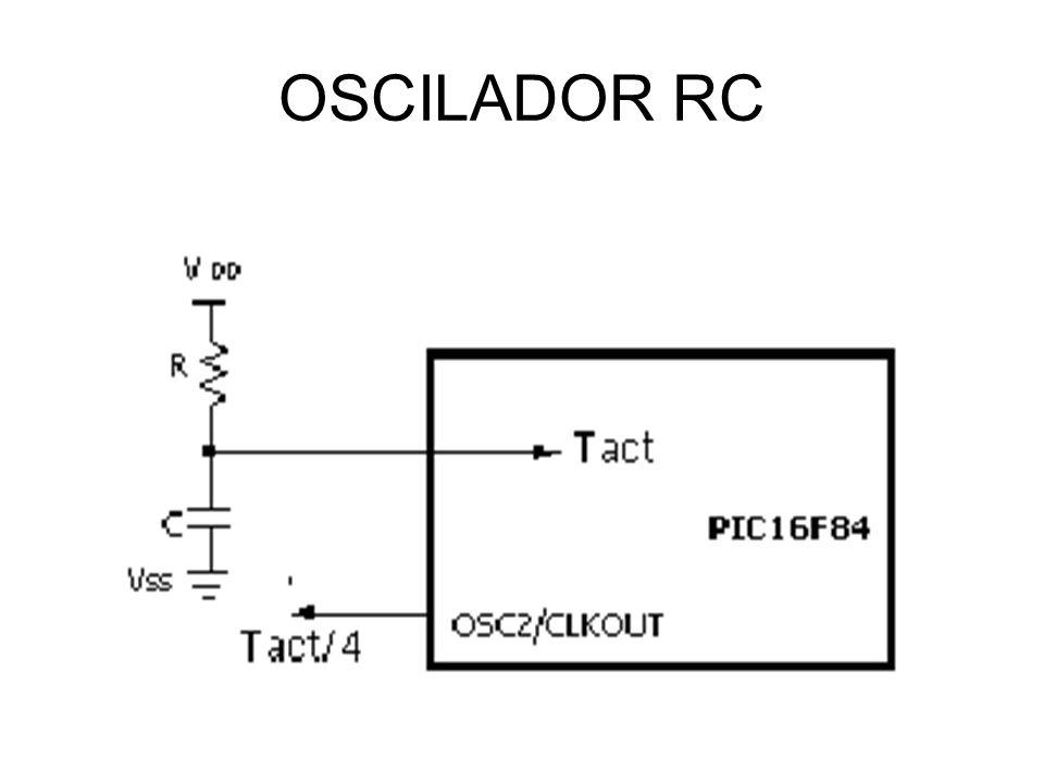 OSC RC- CARACTERÍSTICAS Com um valor para a resistência R abaixo de 2,2 K, o oscilador pode tornar-se instável ou pode mesmo parar de oscilar.