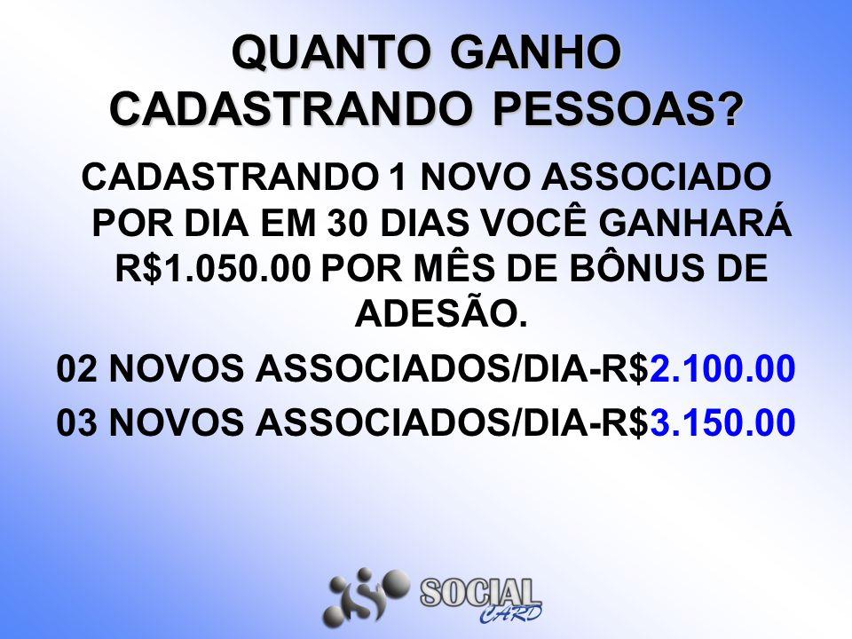 QUANTO GANHO CADASTRANDO PESSOAS.